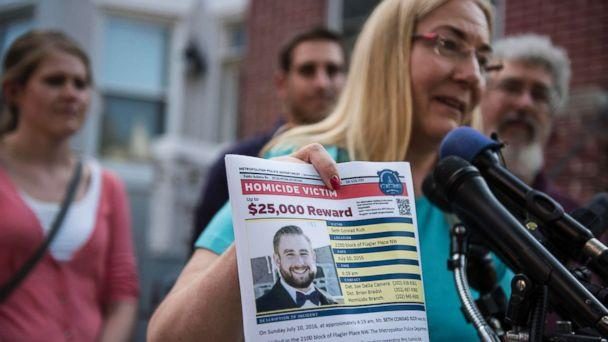 PHOTO: Mary Rich, the mother of slain DNC staffer Seth Rich, gives a press conference in Bloomingdale, Washington D.C., on Aug. 1, 2016. (Michael Chavez/The Washington Post via Getty Images)