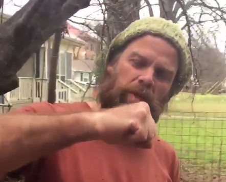 Thor Harris demonstrates 'how to punch a Nazi' in the video that caused his temporary suspension on Twitter: Twitter