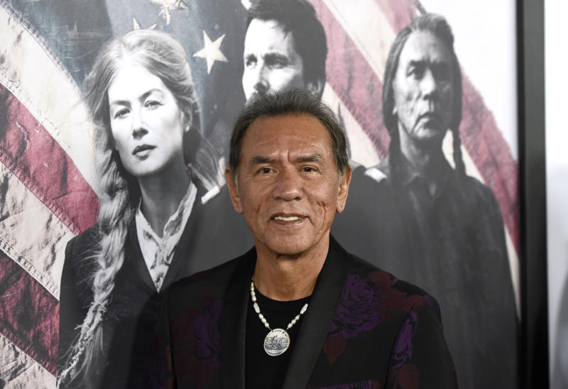 "Wes Studi at the premiere of ""Hostiles"" in 2017. (Photo by Chris Pizzello/Invision/AP)"