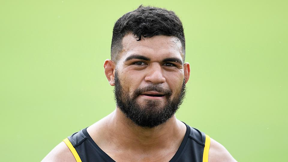 David Fifita (pictured) training for the Indigenous All Stars.