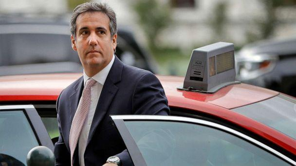 PHOTO: Michael Cohen, President Donald Trump's personal attorney, steps out of a cab on Capitol Hill in Washington, D.C., Sept. 19, 2017. (Pablo Martinez Monsivais/AP, FILE)
