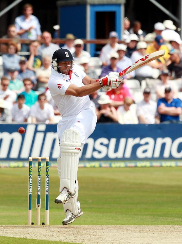 England's Tim Bresnan during day two of the International Warm up match at The County Ground, Chelmsford.