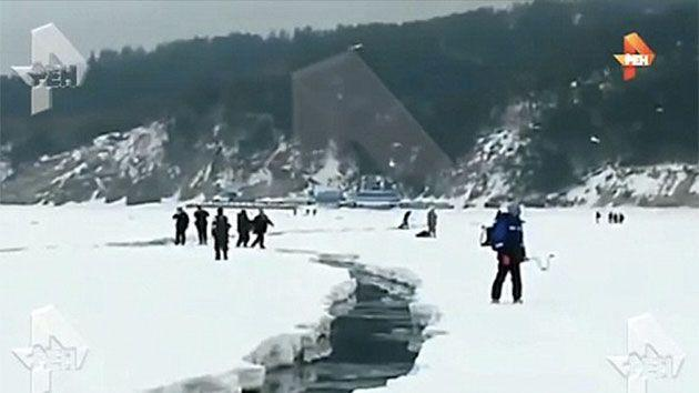 According to Russian media, there were no fisherman injured. Photo: ren.tv