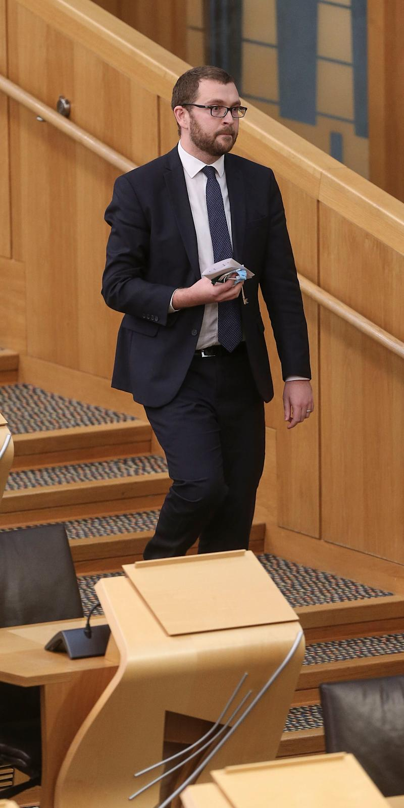 MSP Oliver Mundell was asked to leave the chamber over comments about Nicola Sturgeon (PA)
