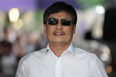 China dissident arrives in New York
