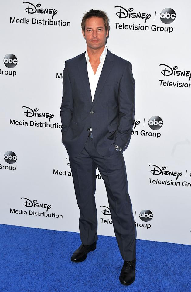BURBANK, CA - MAY 19:  Actor Josh Holloway arrives at the Disney Media Networks International Upfronts at Walt Disney Studios on May 19, 2013 in Burbank, California.  (Photo by Angela Weiss/Getty Images)