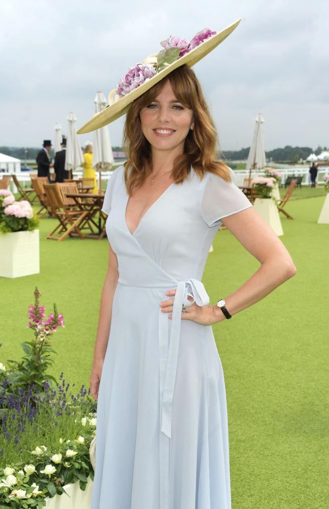 LONDON, ENGLAND - JUNE 17:  Ophelia Lovibond attends the private VIP suite hosted by Longines in the Royal Enclosure during Royal Ascot on June 17, 2021 in Ascot, England. (Photo by David M. Benett/Dave Benett/Getty Images for Longines)