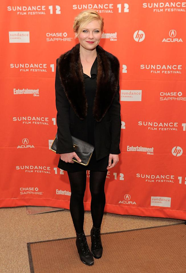 "PARK CITY, UT - JANUARY 23:  Kirsten Dunst attends the ""Bachelorette"" premiere during the 2012 Sundance Film Festival held at Eccles Center Theatre on January 23, 2012 in Park City, Utah.  (Photo by Jemal Countess/Getty Images)"