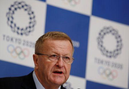 IOC Vice President John Coates attends a news conference in Tokyo