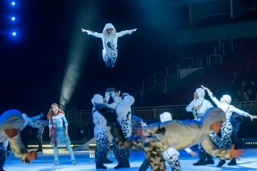Canada's Cirque du Soleil, seen during a performance in January 2020, had to cancel 44 productions worldwide and lay off 4,679 acrobats and technicians