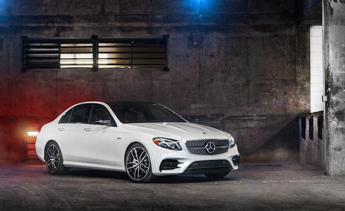 <p>Mercedes-Benz's widescreen digital instrument cluster and infotainment interface, as well as a Burmeister audio system, are standard in the E53, as are sport seats and an AMG sport steering wheel.</p>