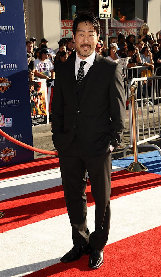 "<a href=""http://movies.yahoo.com/movie/contributor/1809184882"">Kenneth Choi</a> at the Los Angeles premiere of <a href=""http://movies.yahoo.com/movie/1810026349/info"">Captain America: The First Avenger</a> on July 19, 2011."
