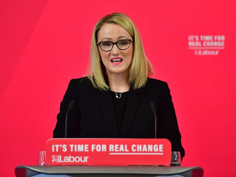 Senior figures on the left are backing shadow business secretary Rebecca Long-Bailey: Getty