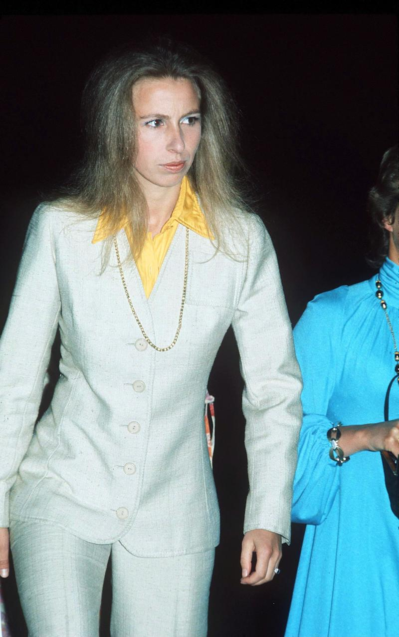 Princess Anne at a theater in London, September 1973.