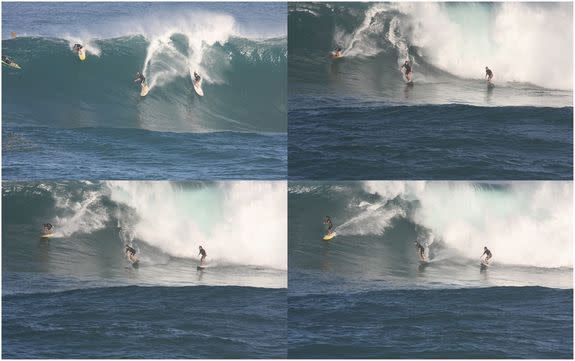 Surfer Treats His Own Eye Problem with Giant Wave