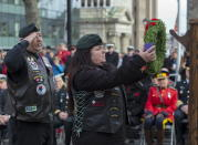 Veterans lay a wreath at Remembrance Day ceremonies at the Grand Parade in Halifax on Monday, Nov. 11, 2019. THE CANADIAN PRESS/Andrew Vaughan