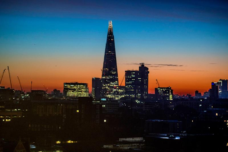 Calm before the storm: The sun rises over London on Thursday morning (Jeremy Selwyn)