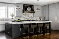 """<p>Carrara's showier sibling, calacatta marble has stronger, more pronounced veining that lends a bold, graphic appeal. """"In both warm and cool tones, I expect it to outshine carrara this year,"""" says Karen B. Wolf. """"It's the perfect transition material for the home owner that can't quite digest that brown is actually a stunning color theme!""""</p>"""