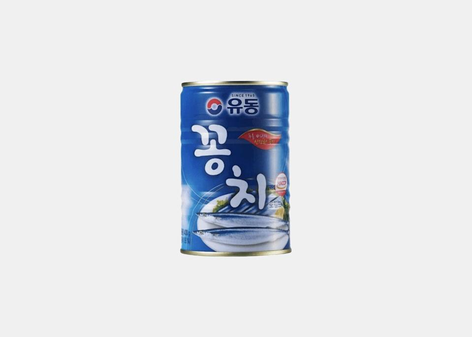 """""""My favorite tinned fish product is definitely <a href=""""https://cna.st/affiliate-link/r6wFKS8kENyxsW17LuWx3k6TKP8kgoiX5TEVMfQyjg225hjFSqF7ZtxZXZBqzRraZgrpNS6H8rkgkUTRwWtUE1sCz2ww9oY2rqJY3nwCkVLysaAAP?cid=609a9911a57be1ea5d0dd8d4"""" rel=""""nofollow noopener"""" target=""""_blank"""" data-ylk=""""slk:Korean tinned mackerel"""" class=""""link rapid-noclick-resp"""">Korean tinned mackerel</a>,"""" says Andrea Xu, the founder of <a href=""""https://cna.st/affiliate-link/3rJ1H6FZE6y4CF4U3SdmGf7v5VSrnoN7ZhWoFSgrUUjWdpF3cSuiR6Cb17uAS4Y37wLheN?cid=609a9911a57be1ea5d0dd8d4"""" rel=""""nofollow noopener"""" target=""""_blank"""" data-ylk=""""slk:Umamicart"""" class=""""link rapid-noclick-resp"""">Umamicart</a>, an online marketplace for Asian groceries. """"I grew up in Spain so tinned fish has been part of my diet since I was a kid. But in college my roommate was from South Korea, and she introduced me to Korean tinned fish, which she often used for cooking soups and stews. I was mind-blown—it's such a convenient way to elevate the flavor of the soup and bring depth to it."""" Xu says Korean canned fish have been part of her cooking repertoire ever since. Her go-to recipe? Kimchi jjigae, with a nice hit of that tinned mackerel. $4, Umamicart. <a href=""""https://umamicart.com/products/yoodong-canned-mackerel"""" rel=""""nofollow noopener"""" target=""""_blank"""" data-ylk=""""slk:Get it now!"""" class=""""link rapid-noclick-resp"""">Get it now!</a>"""