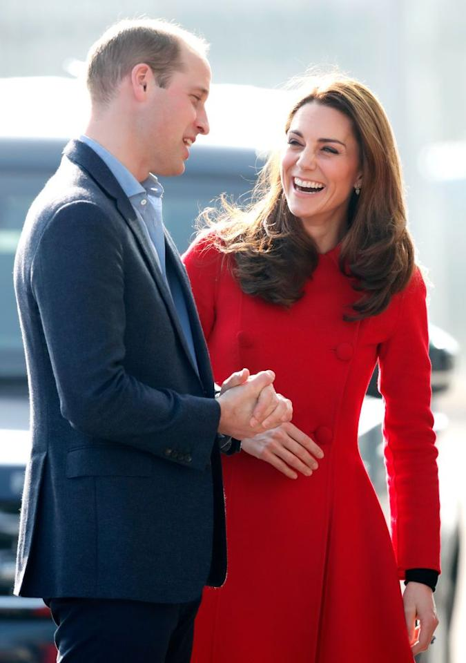 """<p>""""Ease and comfort oozes from this photo,"""" says Orbuch. The Duke and Duchess of Cambridge's relaxed postures sh0w that there are no walls up between these two. Just look at how close together the couple is standing. There's just a sliver of space between them, meaning they've maintained an intimate relationship throughout all these years. </p><p>Now, onto those giant smiles-here's hoping they have something to do with William's <a href=""""https://www.youtube.com/watch?v=U4RcE9G1MhM"""" target=""""_blank"""">self-described </a>dry sense of humor and Kate's naughty one.</p>"""