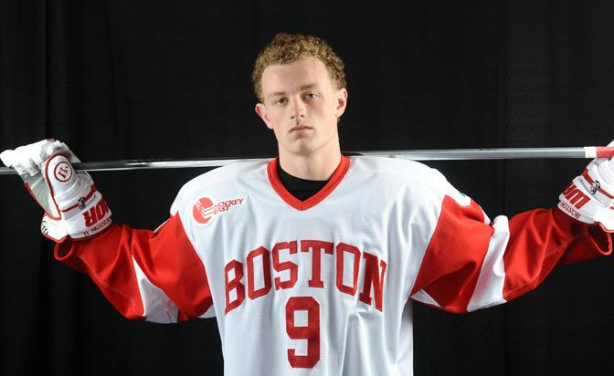 All eyes are on Jack Eichel with Connor McDavid out with a hand injury. (Boston University)