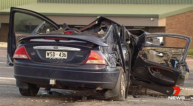 She was allegedly behind the wheel of this car. Source: 7 News