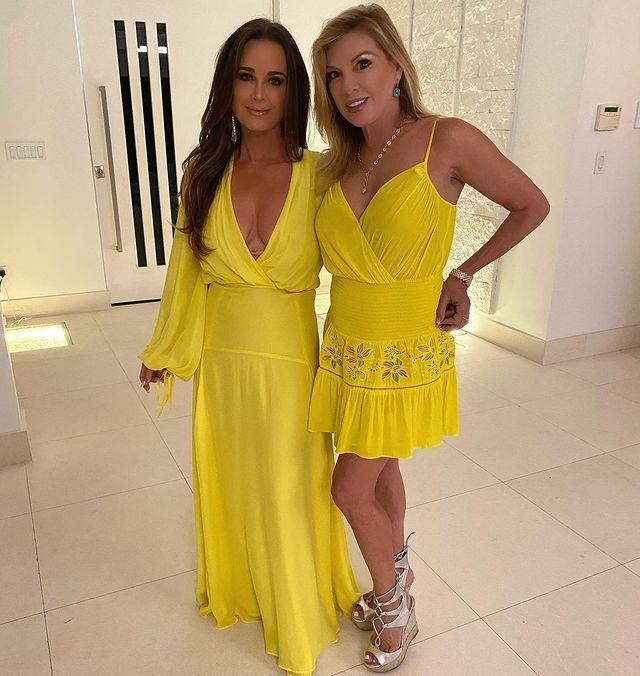 <p>Accidentally matching with another castmate is a huge faux pas, but not on this trip. Kyle Richards and Ramona Singer embraced this fabulous twinning moment.</p>