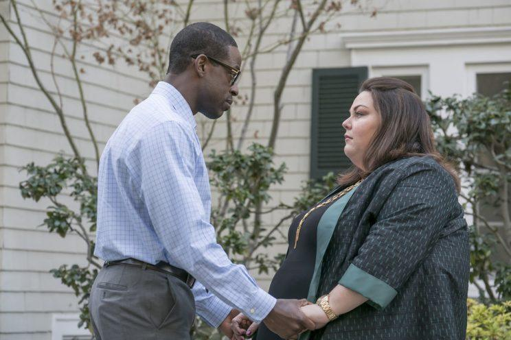 Sterling K. Brown as Randall and Chrissy Metz as Kate (Photo by: Paul Drinkwater/NBC)