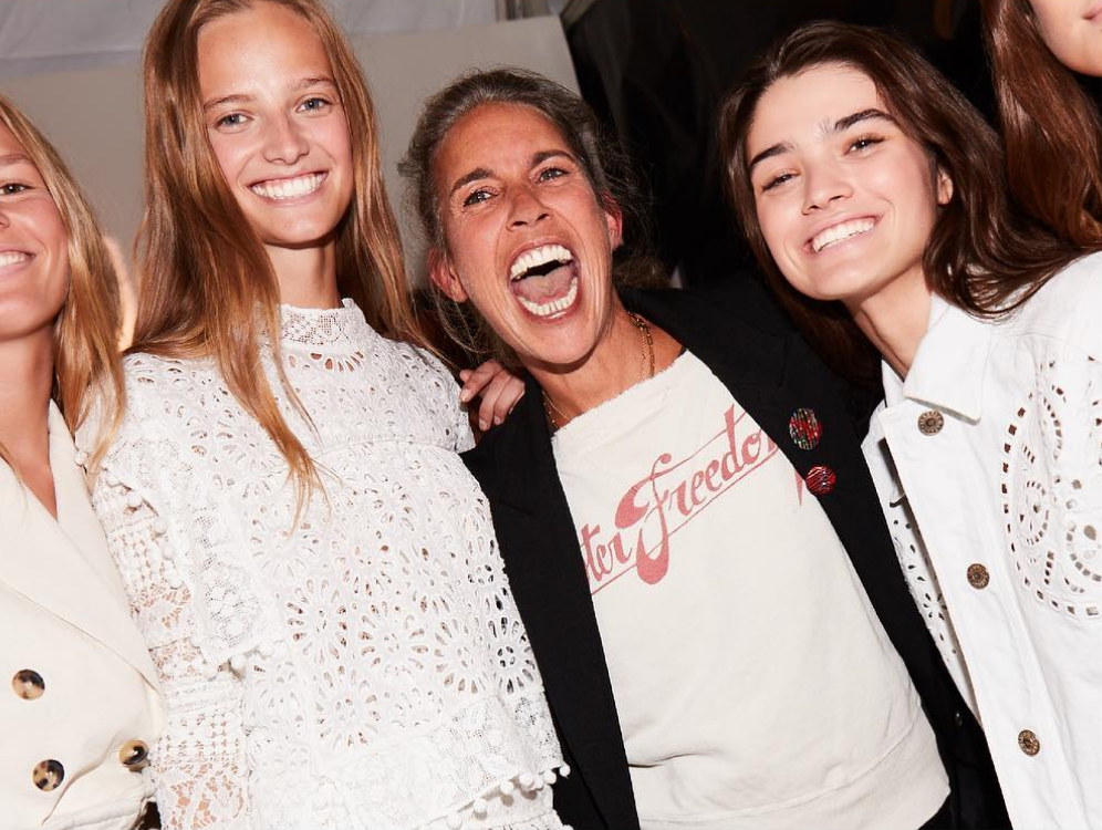 <p>Being backstage at Isabel Marant look like so much fun. <em>[Photo: Isabel Marant/ Instagram]</em> </p>