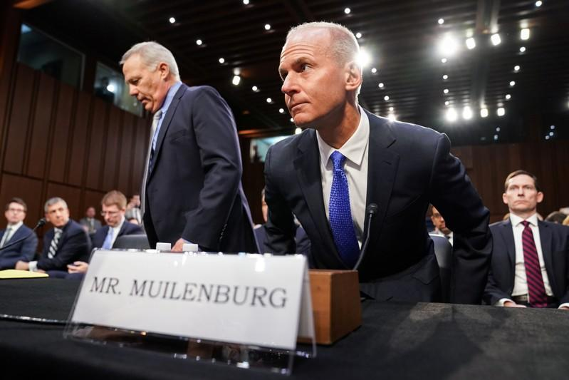Boeing CEO Muilenburg testifies before Senate Commerce, Science and Transportation hearing on grounded 737 MAX on Capitol Hill in Washington