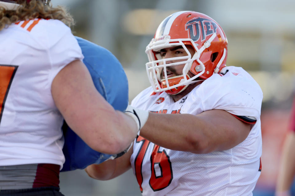 The Dolphins grade schools by an A-B-C-D classification. UTEP guard Will Hernandez earned a high enough grade that it bumped the school from a B to an A. (AP)
