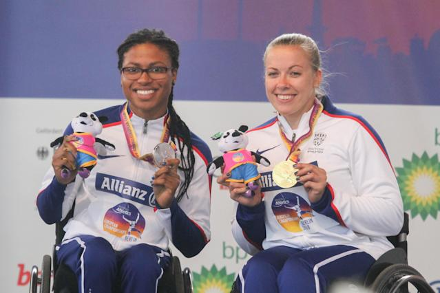 Cockroft (right) and Kare Adenegan renewed British rivalry in Berlin. Pic: Ben Booth Photography