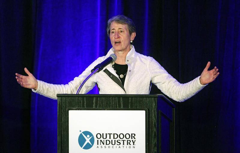 Interior secretary headlines outdoor-gear show