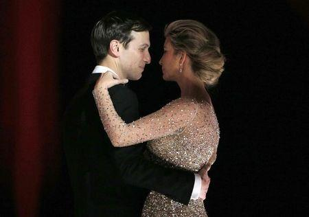 Ivanka Trump and her husband Jared Kushner dance along with U.S. President Donald Trump and his wife first lady Melania Trump at the president's