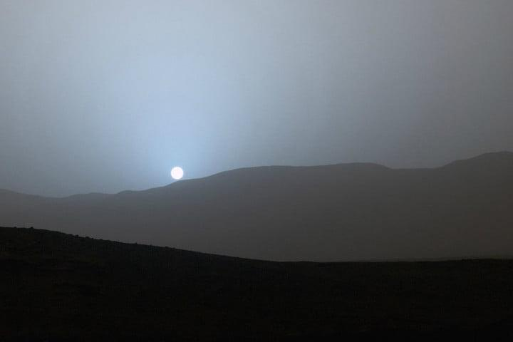 best space photos mars rover sunset