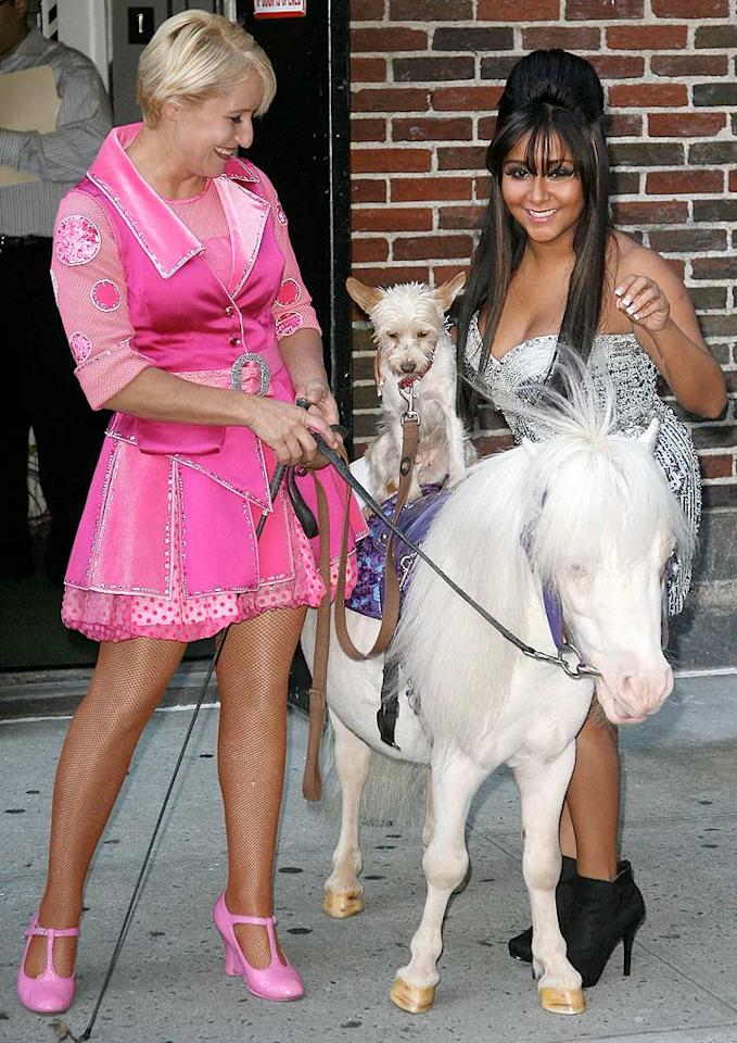 """It looks like Snooki made a couple of friends while making an appearance on """"Late Show With David Letterman"""" Monday. Tyrone/<a href=""""http://www.x17online.com"""" target=""""new"""">X17 Online</a> - September 21, 2010"""