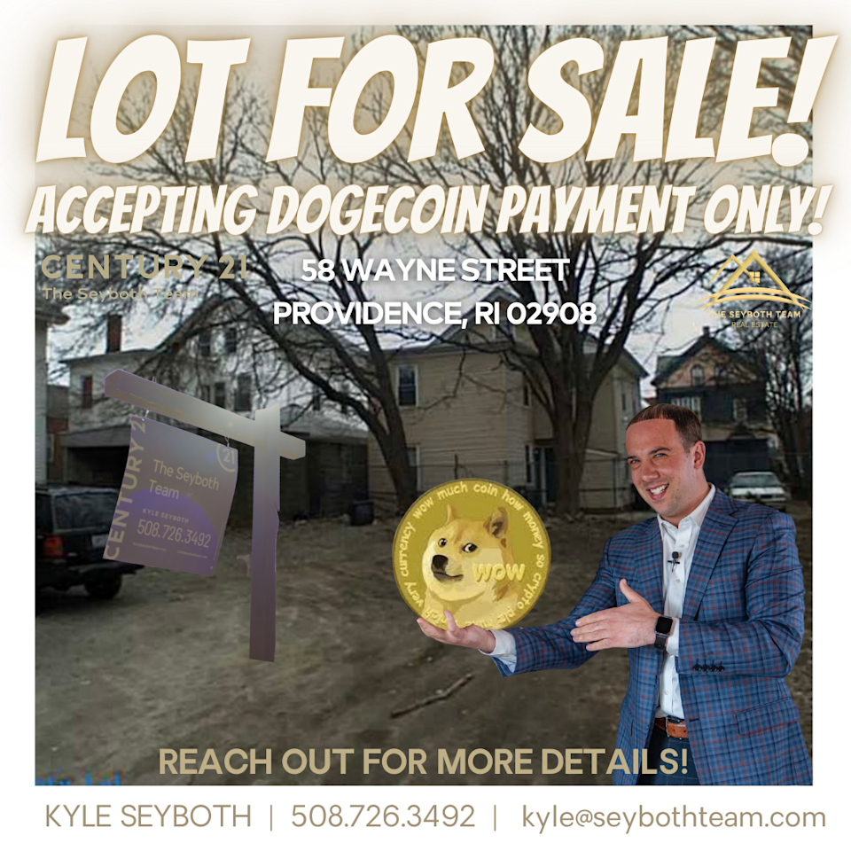 Kyle Seyboth represented a real estate investor who sold a residential lot for 160,000 dogecoin.