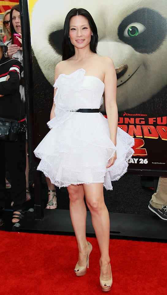 "<a href=""http://movies.yahoo.com/movie/contributor/1800024023"">Lucy Liu</a> attends the Los Angeles premiere of <a href=""http://movies.yahoo.com/movie/1810090593/info"">Kung Fu Panda 2</a> on May 22, 2011."