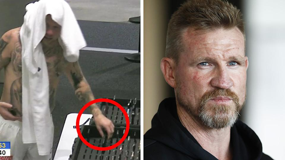Collingwood have copped a $20,000 fine after Jordan DeGoey retrieved his and teammate Jeremy Howe's phones after they were injured during last Friday's game. Pictures: Fox Sports/Getty Images