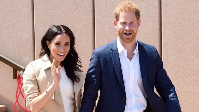 Meghan Markle and Prince Harry Break Royal Protocol to Pose With Her Mini-Me -- Watch!