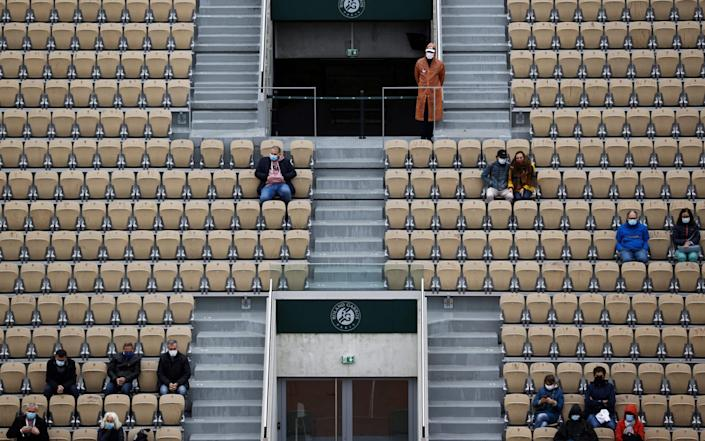 Fans at the French Open - AFP