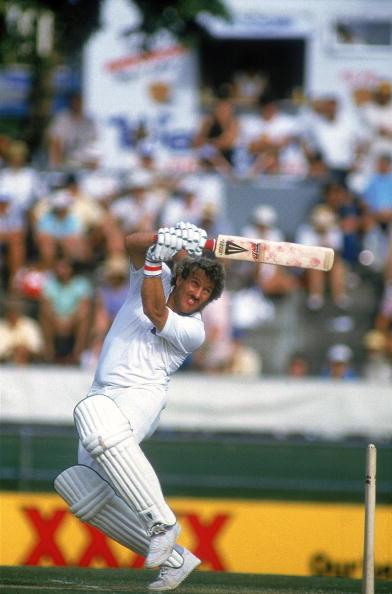 Nov 1986:  Ian Botham of England hooks the ball for another boundary on his way to 138 against Australia in the First Test at the Gabba in Brisbane, Australia. England went on to win the Test by 7 wickets. \ Mandatory Credit: Allsport UK /Allsport