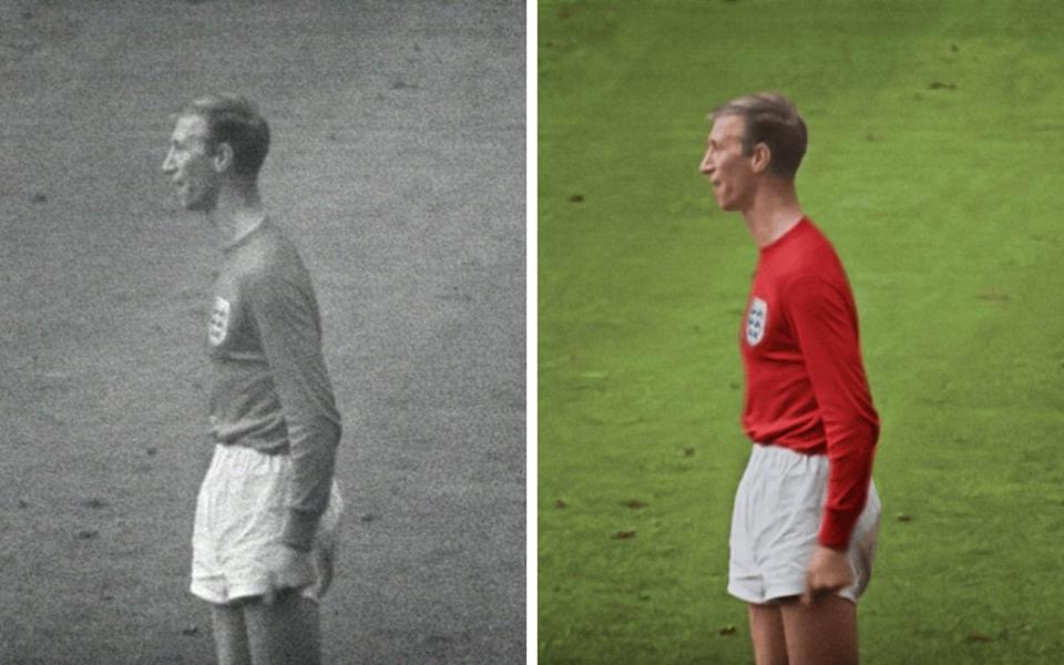 Bobby Charlton, before and after - Film and stills courtesy of Final Replay