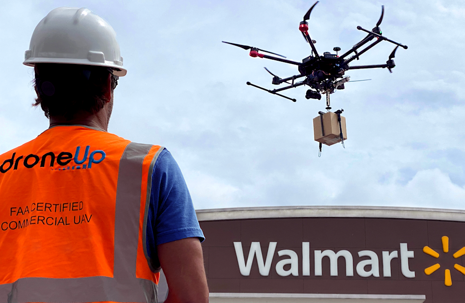 Walmart invests in DroneUp following pilot for COVID-19 swab tests last year.