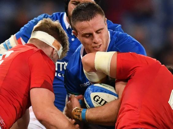 Braam Steyn impressed for Italy in the Six Nations defeat by Wales (AFP/Getty)