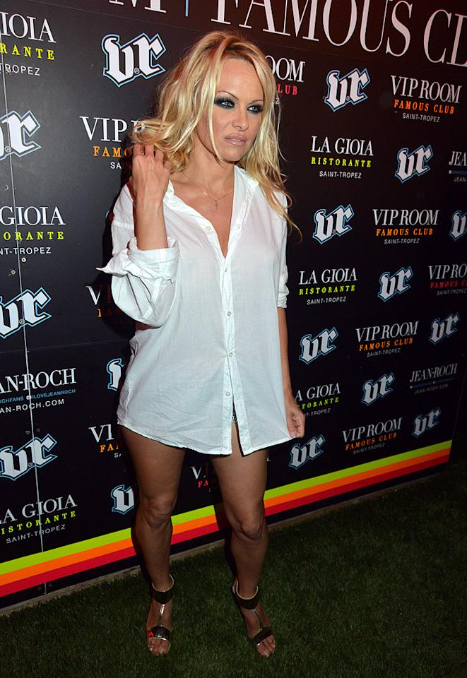 "And last but not least we have former ""Baywatch"" babe Pam Anderson ... sans pants ... again. When will she learn that a button-down shirt does not a dress make? We already know the answer: never! (7/31/2012)<br><br><a target=""_blank"" href=""http://tv.yahoo.com/photos/dancing-with-the-stars-all-stars-cast-slideshow/"">Pam joins ""DWTS: All-Stars""</a><br><br><a target=""_blank"" href=""http://bit.ly/lifeontheMlist"">Follow What Were They Thinking?! creator, Matt Whitfield, on Twitter!</a>"