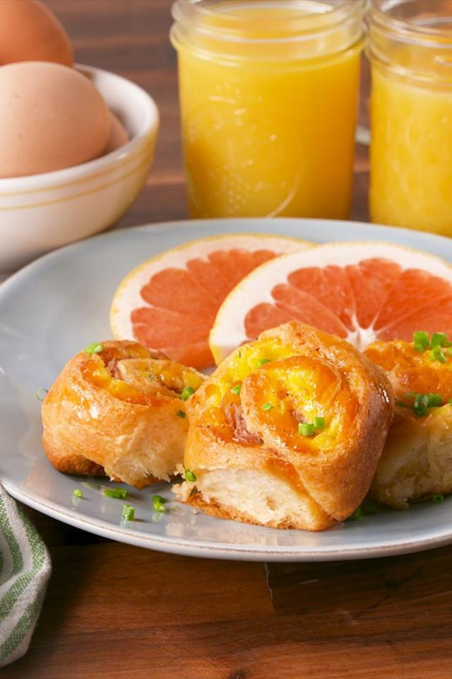 "<p>Egg and cheese sandwiches have nothing on Breakfast Pinwheels.</p><p>Get the recipe from <a rel=""nofollow"" href=""http://www.delish.com/cooking/recipe-ideas/recipes/a58292/breakfast-pinwheels-recipe/"">Delish</a>.</p><p><strong><em>BUY NOW: Nonstick Skillets, $49.95, <a rel=""nofollow"" href=""https://www.amazon.com/Calphalon-Contemporary-Hard-Anodized-Aluminum-Nonstick/dp/B071ZFZ8TY/?tag=delish_auto-append-20&ascsubtag=[artid