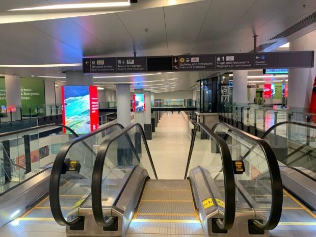 A view of the new Bay Concourse at Union Station opening on Tuesday. It's one of the final pieces of a city renovation project that has taken more than a decade to complete.  (Anne Marie Aikins/Metrolinx - image credit)