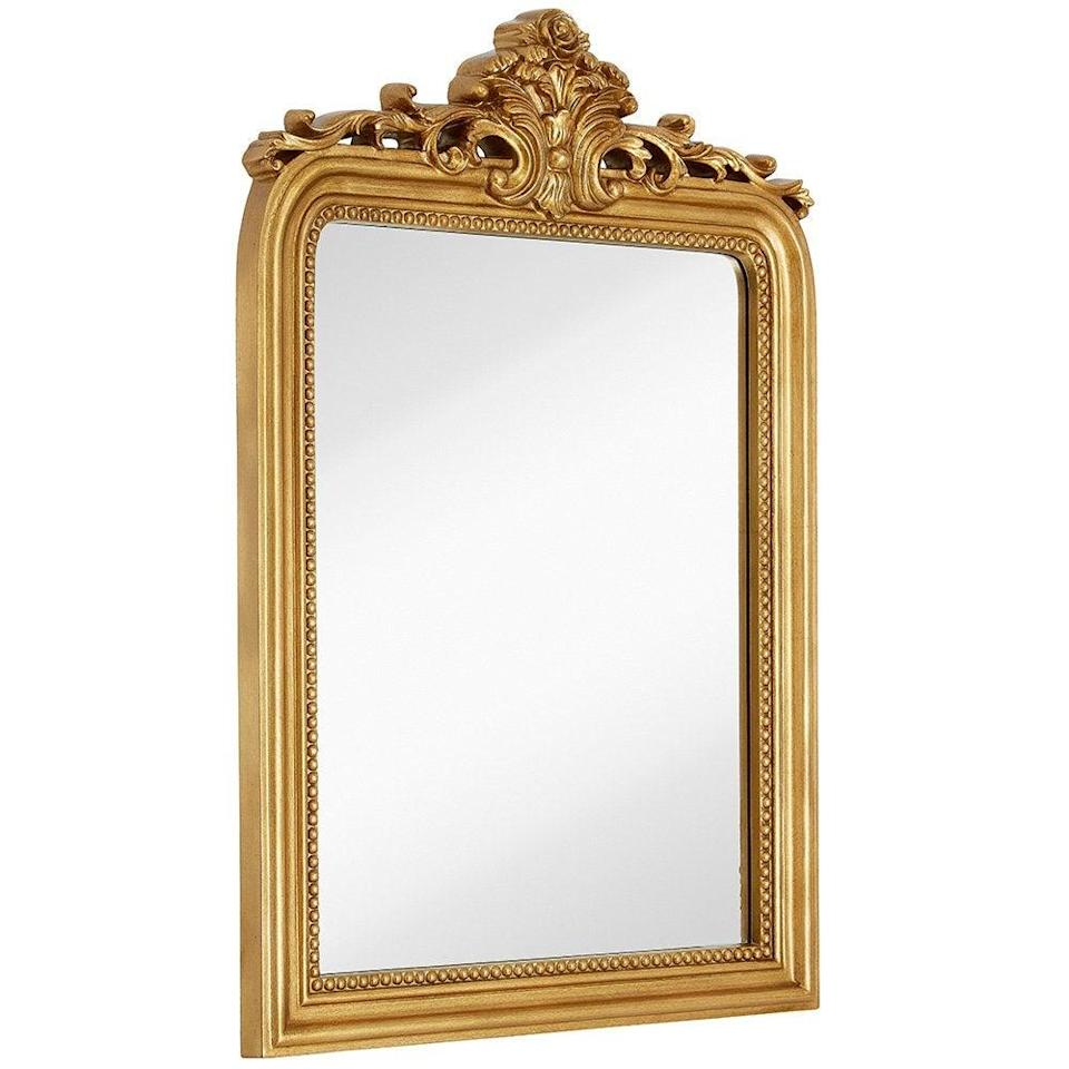 """<h3>Gold Baroque Mirror</h3><br>The ultimate selfie mirror is this under-$200 baroque-style stunner that looks like an heirloom passed down from the royal family. <br><br><strong>Hamilton Hills</strong> Gold Baroque Wall Mirror, 24'' x 36'', $, available at <a href=""""https://amzn.to/3r7rDZy"""" rel=""""nofollow noopener"""" target=""""_blank"""" data-ylk=""""slk:Amazon"""" class=""""link rapid-noclick-resp"""">Amazon</a>"""