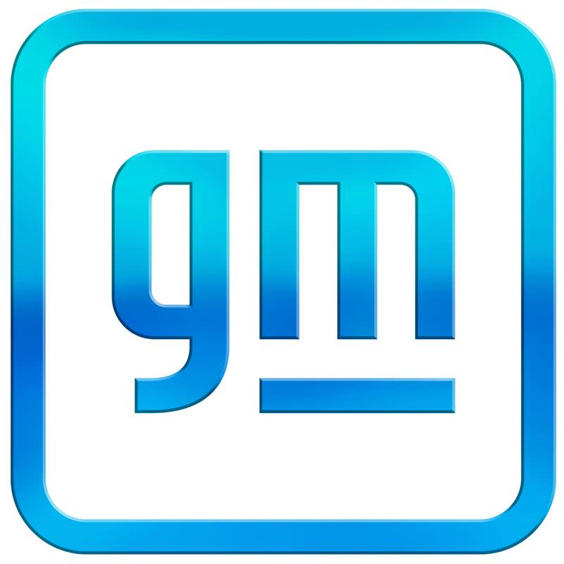 Handout photo of the new GM logo